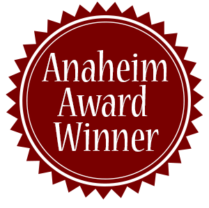 Anaheim Award Winner Button